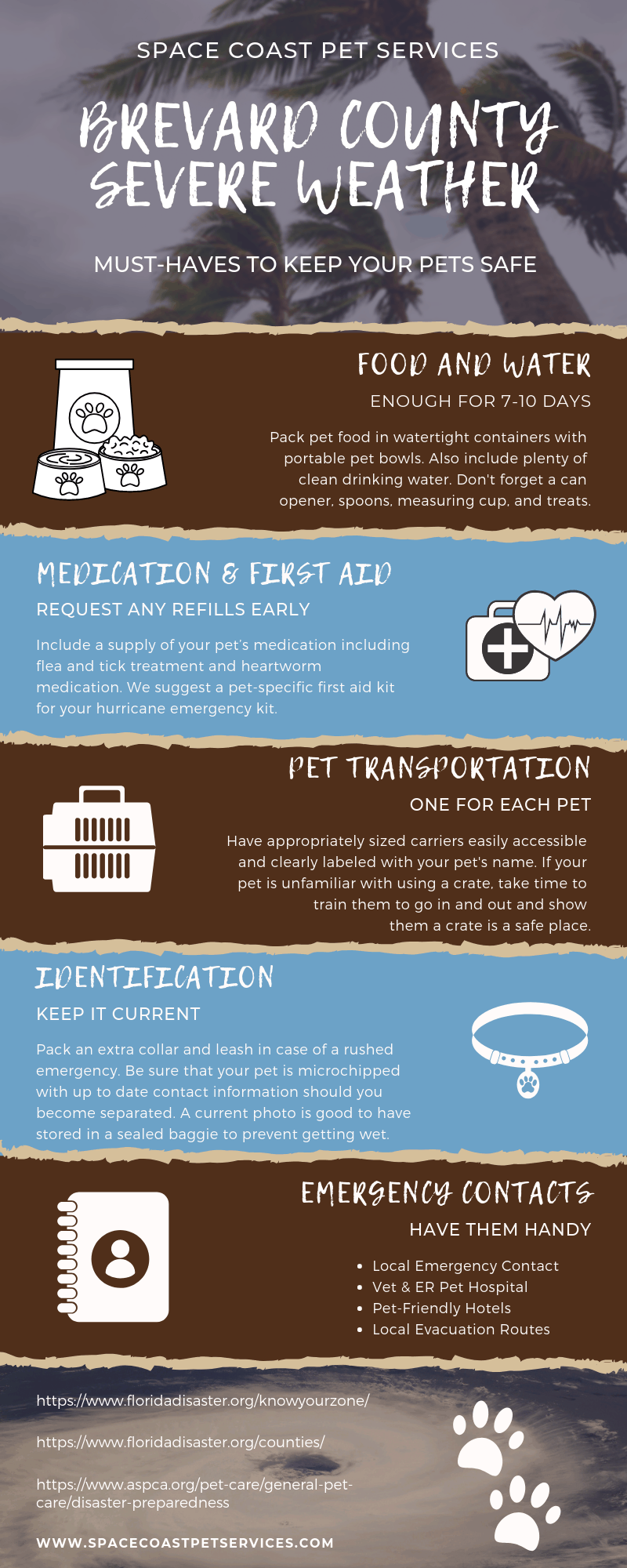 Severe Weather checklist for Pets in Brevard County, FL